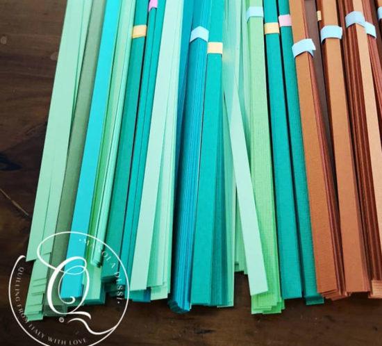 strisce di carta per quilling